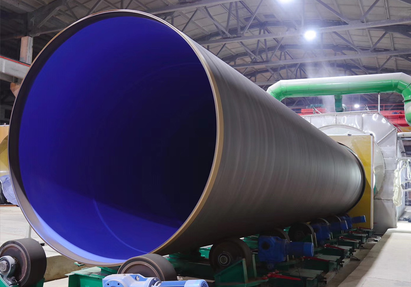 Steel pipe outer polyethylene 3PE, inner epoxy powder (FBE) anticorrosion